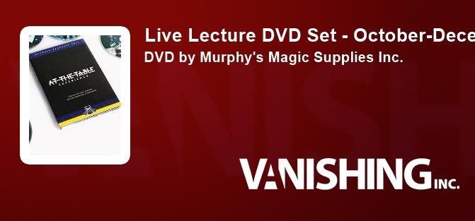 Live Lecture DVD Set - October-December 2017