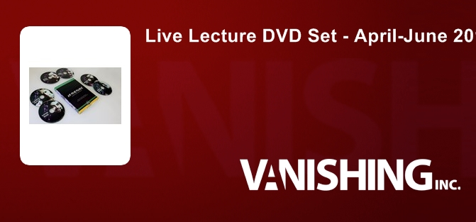 Live Lecture DVD Set - April-June 2016