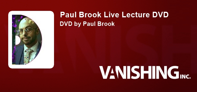 Paul Brook Live Lecture DVD