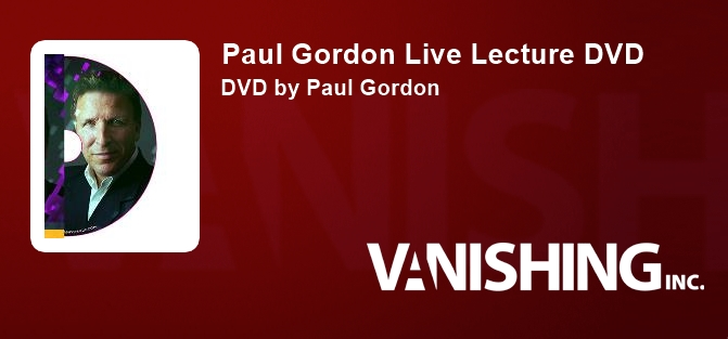 Paul Gordon Live Lecture DVD