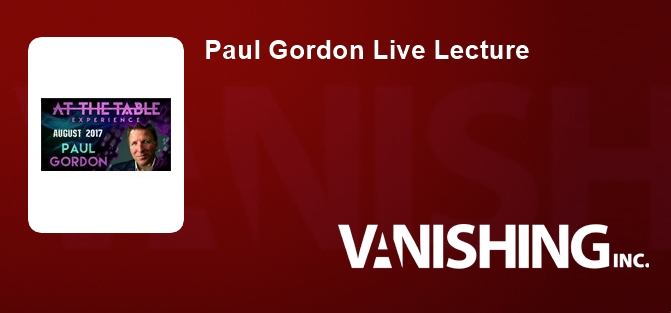 Paul Gordon Live Lecture