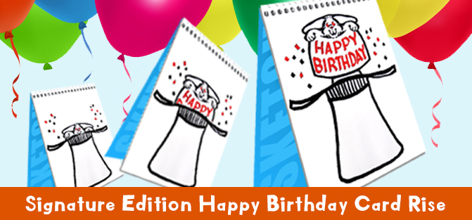 Signature Edition Happy Birthday Card Rise
