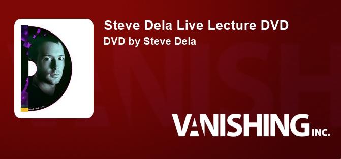 Steve Dela Live Lecture DVD