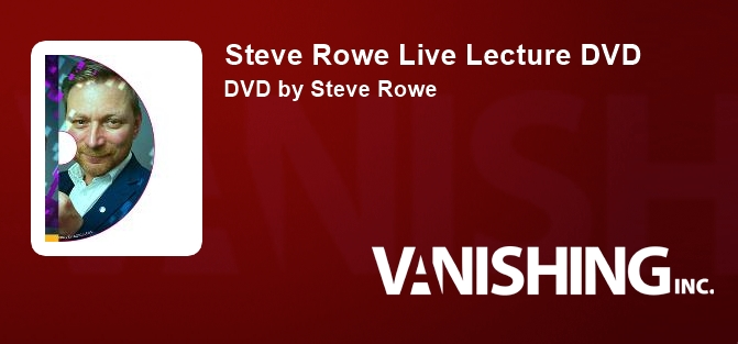 Steve Rowe Live Lecture DVD