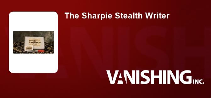 The Sharpie Stealth Writer