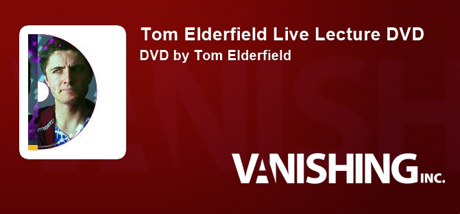Tom Elderfield Live Lecture DVD