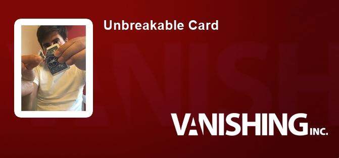 Unbreakable Card