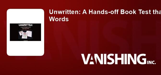 Unwritten: A Hands-off Book Test that Transcends Words